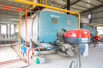 8tph condensing gas fired steam boiler for food industry