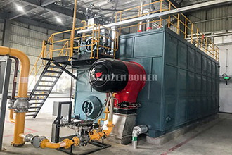 small biomass fuel wood pellet fired hot water boiler for